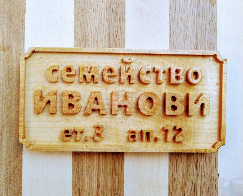 табела за врата от ясен
