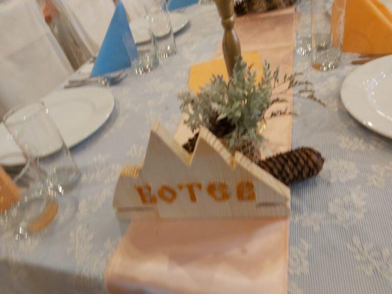 табела за декорация за сватбена маса